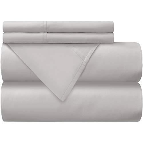 Mellanni 100% Cotton Bed Sheet Set - 300 Thread Count Sateen