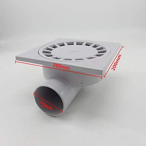YIWMHE PVC 75MM Wall Drainage Large-Traffic ABS Drainer Bathroom Shower Floor Waste Drain Big Flow Rate Side Drains