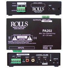 Rolls PA202 20x20 Watt Mini Power Amp-by-Rolls by Rolls