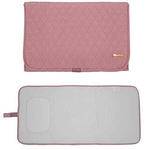 Portable Diaper Changing Pad Stylish & Chic byAMILLIARDI for Travel w/Baby, Infant & Newborn, Changing Mat Portable (Blush/Light Pink)