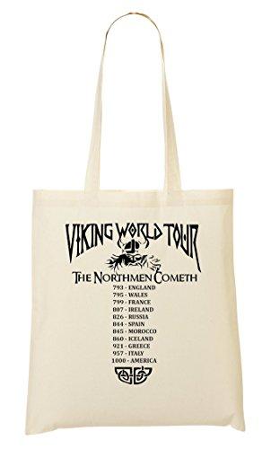 CP Viking World Tour The Northmen Cometh Cool Funny Bolso De Mano Bolsa De La Compra