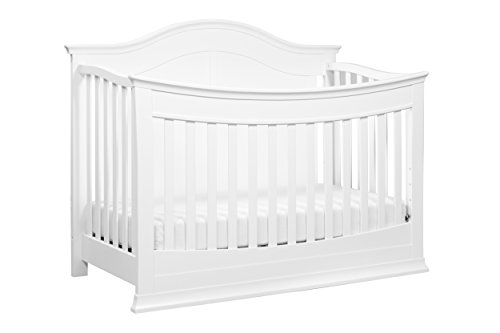 DaVinci Meadow 4-in-1 Convertible Crib with Toddler Bed Conversion Kit, White