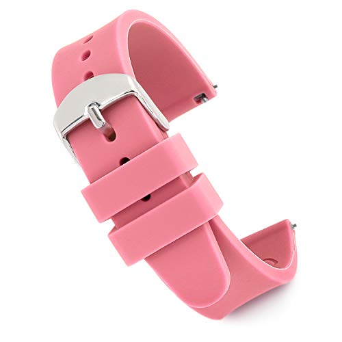 Speidel Scrub Watch Replacement 18mm Pink Silicone Rubber Band by Speidel