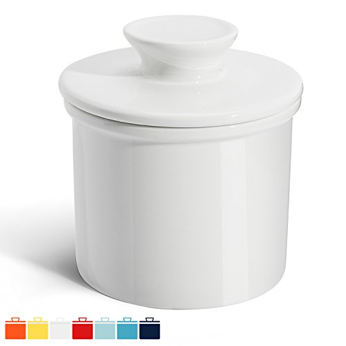 How To Mold Butter (Sweese 3110 Porcelain Butter Keeper Crock - French Butter Dish - No More Hard Butter - Perfect Spreadable Consistency, White)
