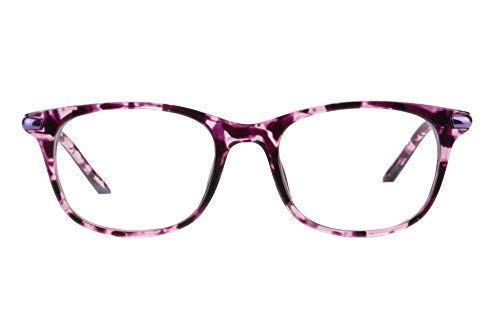 MEDOLONG Women's Asymptotic Multifocal Glasses Horn Rimmed Readers Progressive Multifocus Computer Reading Glasses-RG17(purple - Floating Glass Appliances