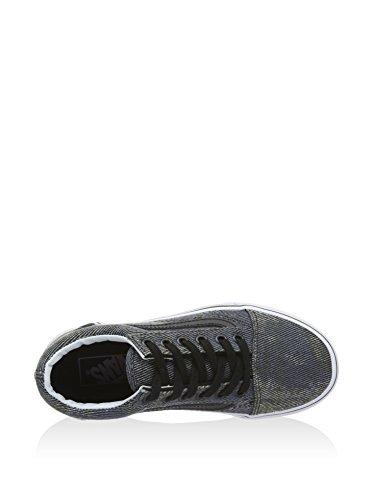 Vans Unisex-Kinder Old Skool Low-Top Schwarz (acid Denim/navy/black)