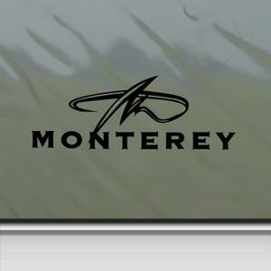Monterey Black Sticker Decal Monterey Boat Black Car Amazoncouk - Decals for boats uk