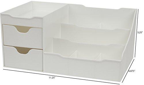 Mantello Makeup Organizer Vanity Organizer with Drawers, White by Mantello (Image #5)