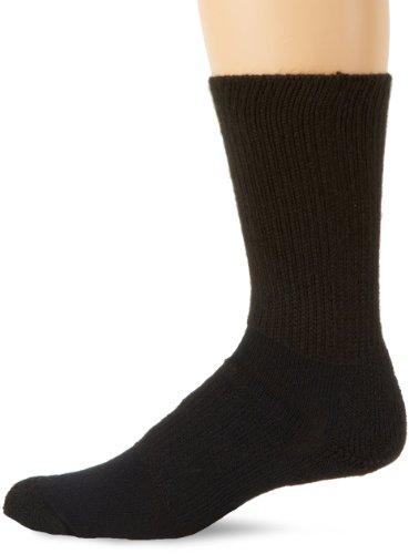 Thorlos Walking Heels (Thorlos Padded Walking Crew Sock Black L)