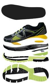 Herren Walkingschuhe Laufschuhe Sportschuhe Farbe Grau/Blau/Schwarz Luftzirkulation durch Air-Dynamic-Flow-System (ADF)
