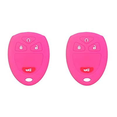 KAWIHEN Silicone Protector Cover Fit for Buick Cadillac Chevrolet Chevy GMC Pontiac Saturn 4 Buttons Key Fob OUC60270 OUC60221 M3N5WY8109 850K60270 850K60221: Automotive
