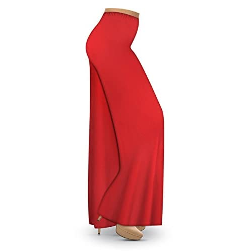 7624e4d0e2a new Solid Red Slinky Wide Leg Plus Size Supersize Palazzo Pants ...
