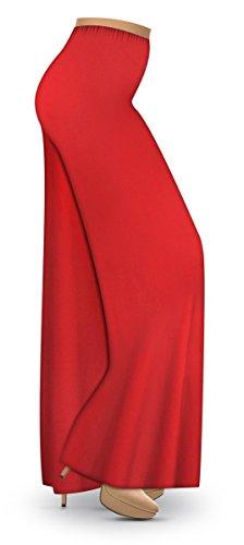 Red Slinky Wide Leg Plus Size Supersize Palazzo Pants XL