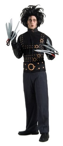 Edward Scissorhands Complete Fancy Dress Costume & Wig