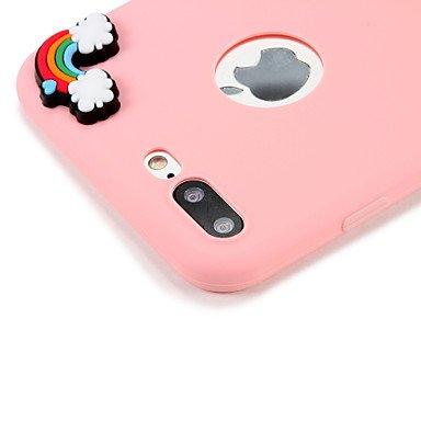 Fundas y estuches para teléfonos móviles, Caja para el iphone de la manzana 7 más el patrón de la cubierta de la contraportada del patrón de la cubierta 7 paisaje de la frase ( Modelos Compatibles : I IPhone 6s Plus/6 Plus