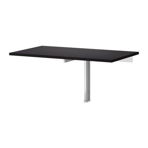 "IKEA 802.175.24 BJURSTA Drop-Leaf Table, 35 3/8x19 5/8"", Black"