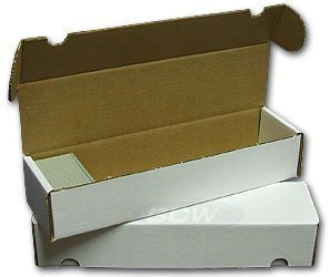 FIFTY (Bundle of 50) BCW 800 Count Corrugated Cardboard Storage Box - Sportscards, Gaming & Trading Cards Collecting Supplies by BCW