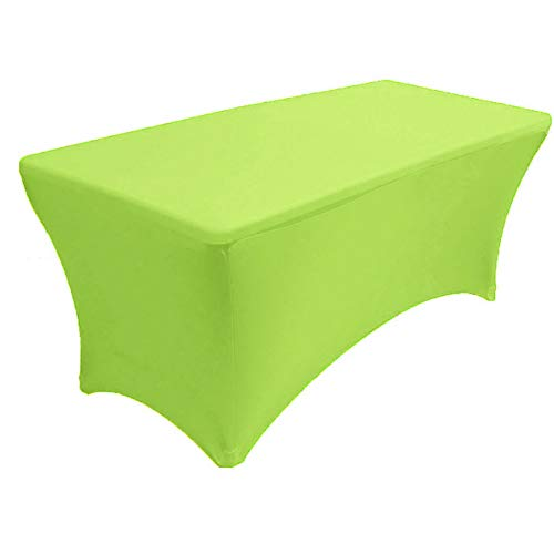 Vinyl Strap 2.5' (Mikash 4 ft x 2.5ft Spandex Fitted Stretch Tablecloth Table Cover Wedding Lime | Model TBLCLTH - 84)