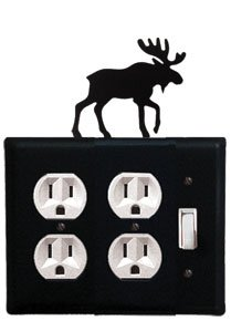 EOOS-19 Moose Double Outlet Single Switch Electric Cover