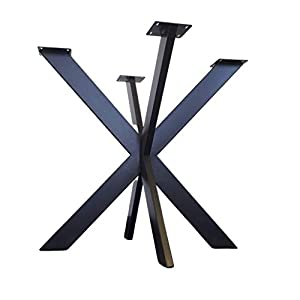 Metal Table base, Cross-X Style - Any Size and Color