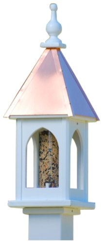 The Birdhouse Chick – Copper Bird Feeder-PVC 26×8