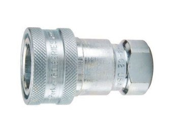 Coupler Female Pipe - Parker Hannifin BH3-60 Series 60 Brass Multi-Purpose Quick Coupler with Female Pipe Thread, ISO 7241 Series B Interchange, Poppet Valve, 3/8