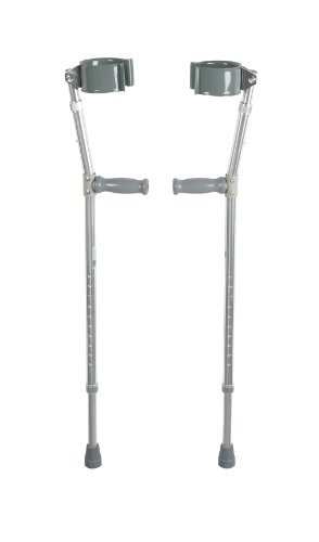 Drive Medical Forearm Crutch, Chrome, Bariatric ()