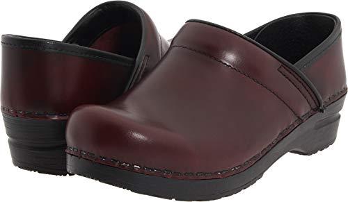 Sanita Women's Professional Cabrio Bordeaux Brush Off Leather 39 Regular EU