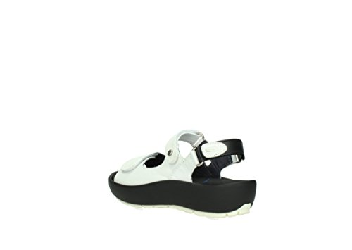Wolky Womens 3325 Rio Leather Sandals blanco