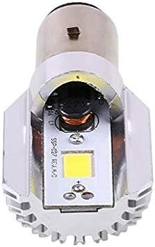 TOOGOO 2X H6W Bax9S 6W White Xenon Side Side Marker L/ámpara De Estacionamiento 12V 5000K