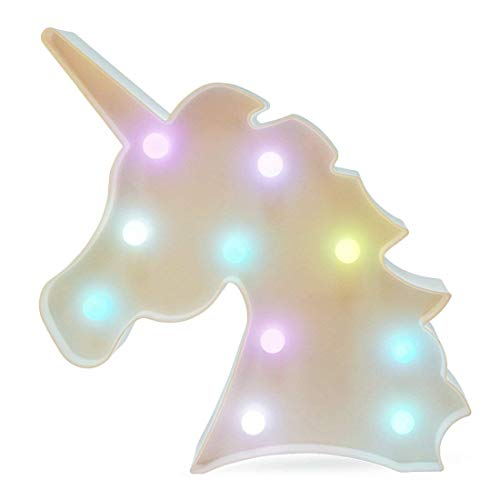 KangRuiZhe Colorful Unicorn LED Light Night Lights Lamp Wall Decoration Decorative Sign for Living Room, Bedroom, Home, Christmas, Party as Kids Gift