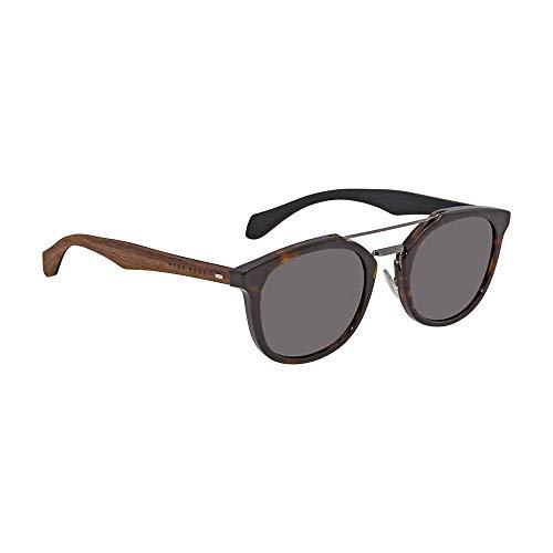 BOSS by Hugo Boss Men's B0777s Square Sunglasses, Havana Brown/Gray, 51 mm