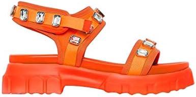 Comfy Gemstone Velcro Strap Open Toe