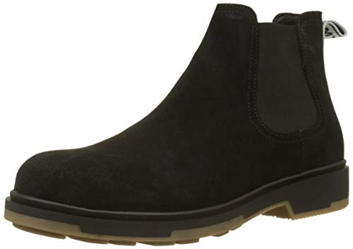 Hilfiger Denim Casual Outdoor Boot, Stivali Chelsea Uomo Nero (Black 990)
