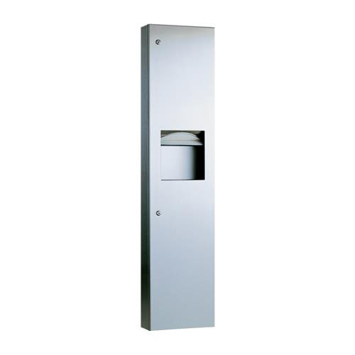 Bobrick - B-38032 - TrimlineSeries Paper Towel Dispenser and Waste Receptacle by Bobrick