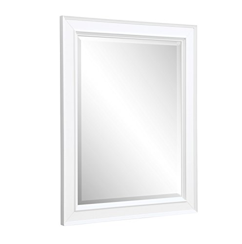 Bath Collection Wall (Kitchen Bath Collection MR01WT Napa Bathroom Wall Mirror, 28