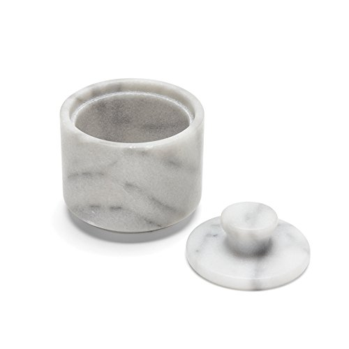 Fox Run 3849 Marble Salt Cellar, White