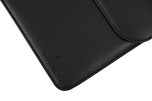 DEERLUX Men's Leather Laptop Briefcase, Black, One Size by DEERLUX (Image #9)