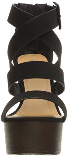 Qupid Women's Sandal Platform 20 Framey Black 0F6qaA0