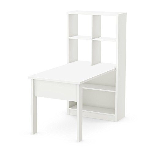 South Shore Annexe Work Table and Storage Unit Combo, Pure White by South Shore