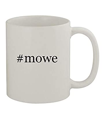 #mowe - 11oz Sturdy Hashtag Ceramic Coffee Cup Mug, White