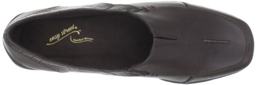 Easy Street Womens Leder Slip-on Brun / Croco