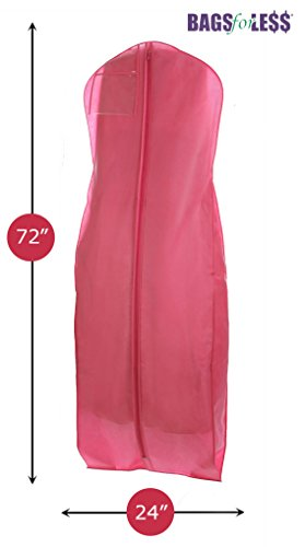 Brand New Hot Pink Breathable Wedding Gown Dress Garment Bag (Dress Garment Bag Pink compare prices)