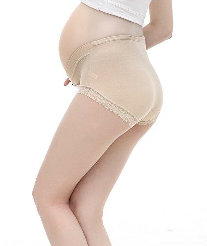 Topwhere Bragas Confortable Para Mujer Embarazada De Algodón De Cintura Bajo 3Pack Grey+Nude+Pink/3Pack