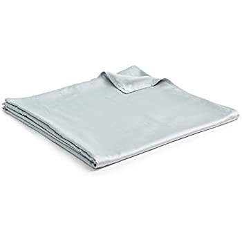 YnM Bamboo Duvet Cover for Weighted Blankets (60''x80'') - Light Grey Print