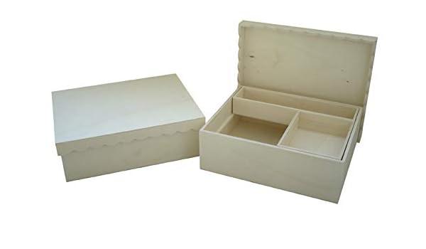 Caja madera para manualidades. Ideal para costura. En madera de ...