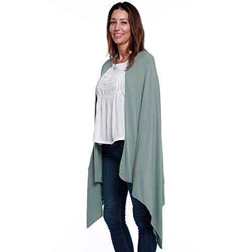 Collo Happyluxe E Viaggio Wrap Wayfarer Green Coperta Scialle Costruito Accogliente Scaldino Sage Nel qafF1w