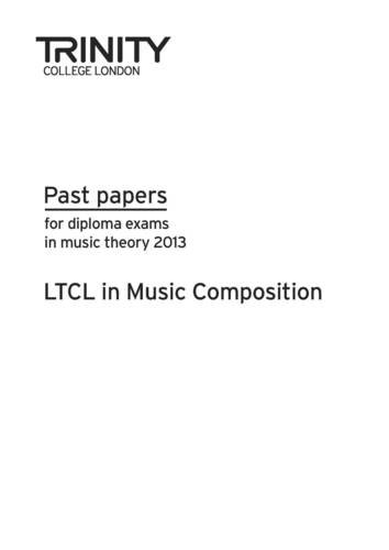 LTCL in Music Composition Past Papers 2013 (Theory Past Papers) pdf