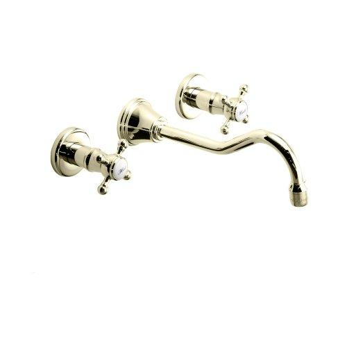 Jado 853/138/167 Victorian Two-Handle Wall Mounted Faucet, Cross Handle, Diamond