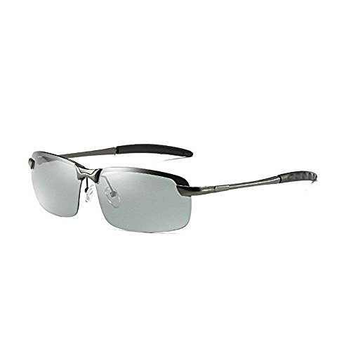 MINCL/Photochromic Lens Disguised polarized Sun Glasses Mens drivers driving classic sunglasses - Lenses Photo Grey